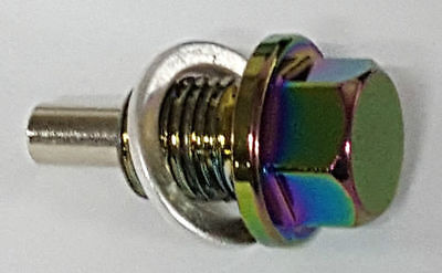 BMW M12x1.5 MAGNETIC SUMP OIL DRAIN PLUG MINI 1 3 5 6 7 SERIES X3 X5 NEO CHROME