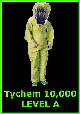 DuPont TYCHEM 10,000 * Total ENCAPSULATION SUIT  * XL * LEVEL A * NEW Condition