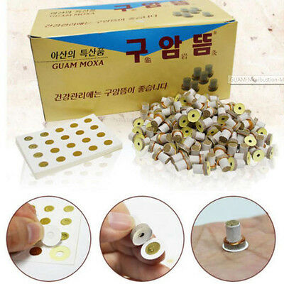 GUAM Moxibustion Mini Stick-on Moxa 1100 pcs