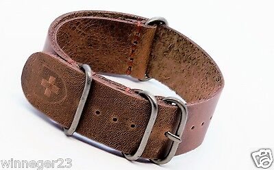 zulu watch strap Military g10 Vintage 18/20/22/24mm leather Handmade