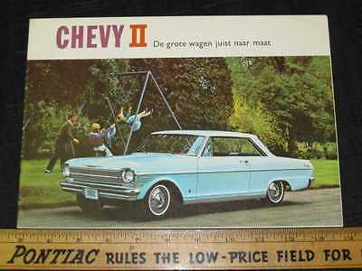 1962 Chevrolet Chevy II Export Holland Sales Brochure