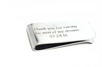 Thank you for raising the man of my dreams - Personalized metal Money Clip -