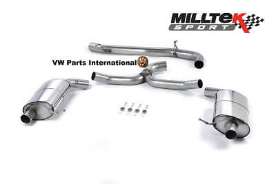 VW Golf R 2.0TSI MK7 Estate Variant MILLTEK 3″ Non Res Cat Back Exhaust System