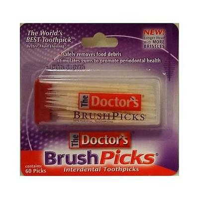 Doctors Brushpicks Interdental Toothpicks - 60 Ea