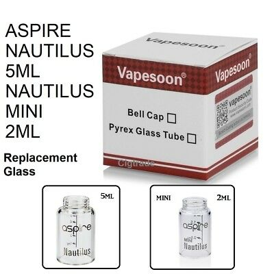 Aspire Nautilus or Mini Replacement Glass by Vapesoon