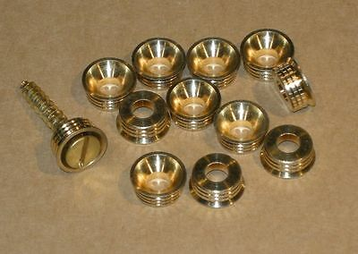 Brass Countersunk Cup Washers - 4 Gauge Options - 6,8,10,12 - 12 Pieces in Pack