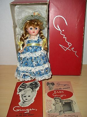 Vintage 1950's Cosmopolitan Doll Ginger Braids Straight Leg Walker With Box