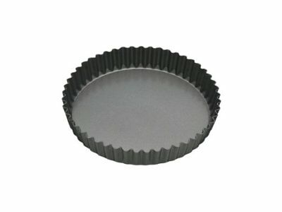 """Master Class Non-Stick Fluted Flan Tin / Quiche Pan with Loose Base, 18 cm 7"""""""