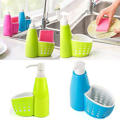 Soap Dispenser Bottle Shower Gel Shampoo Pump liquid Lotion Sponge Holder New