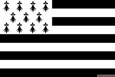 "BRITTANY 18"" x 12"" FLAG suitable for Boats Caravans Treehouses flags FRANCE"