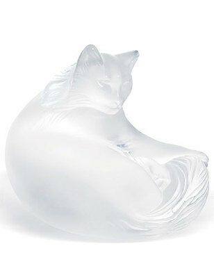 Lalique Crystal (Brand New) - Happy Cat Figurine Ref: 1179500