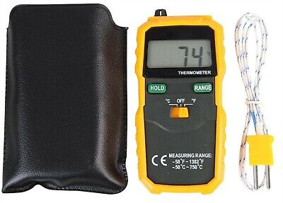 Digital Thermometer with K Type Thermocouple with -50°C to +750°C Range
