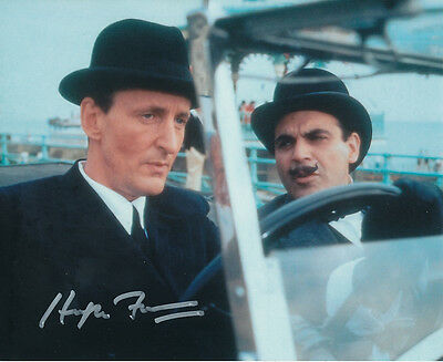 Hugh Fraser In Person Signed Photo - A707 - Poirot