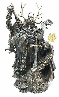 "11"" Height King Arthur Wizard Merlin with Excalibur Sword Figurine Collectible"