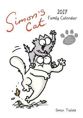 Simons Cat Family Planner Large A3 Size Uk 2017 Wall Calendar New & Sealed