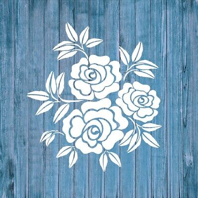 Mylar Reusable Stencil Shabby Chic Vintage Airbrush Wall Art Furniture Fabric