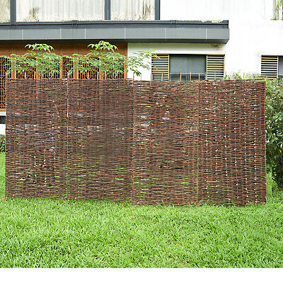 6Ft Woven Wooden Willow Hurdle Fence Panel Natural Garden Fencing Screening Uk