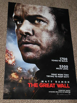 THE GREAT WALL vg 27x40 ORIGINAL D/S MOVIE POSTER