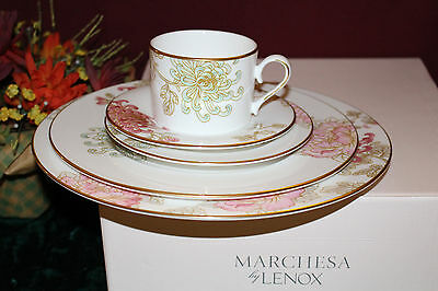 Lenox Marchesa Painted Camellia 5 Piece Place Setting USA New in Box 818520