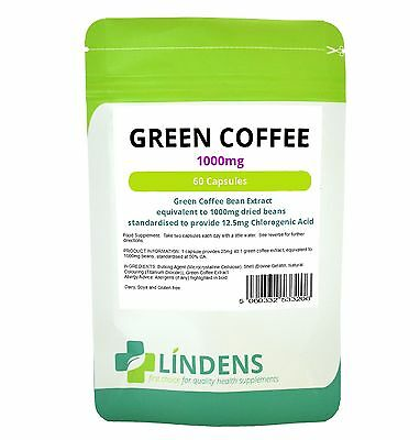 Green Coffee 1000mg 60 Capsules - fat burner, weight loss, diet Support