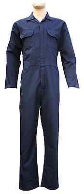 New Mens Navy Blue Boiler Suit Overall Coverall Mechanic College Work Small- 3Xl