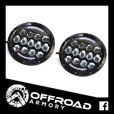 "2 X 7"" 101W Led Headlamps Hi-Lo Beam Drl Jk Tj Wrangler Gq Patrol Headlights H4"