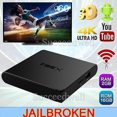Lot T95X S905X Android 6.0 Smart TV Box Fully Loaded 4K Quad Core Wifi 2G+8GB 3D