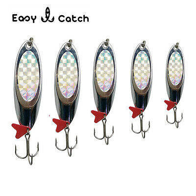 10pcs 5-40g Saltwater Spinnerbaits Trolling Jig Spoon Lures Bass Fishing Lures