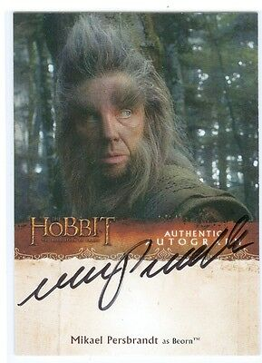 The Hobbit Desolation of Smaug Autograph Card Mikael Persbrandt as Beorn Auto