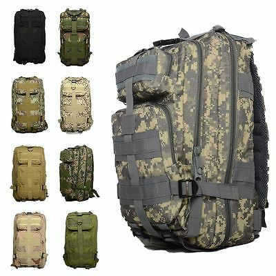 30L Outdoor Military Tactical Bag Camping Hiking Trekking Backpack