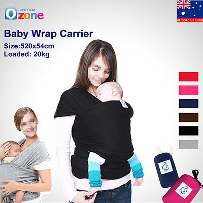 Adjustable Baby Sling Stretchy Wrap Baby Carrier  Breastfeeding Newborn to 3yrs
