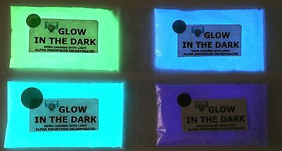 Glow in the Dark Fluorescent Pigment Powder Colours Paint Plasti Dip Nail Polish
