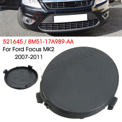 Round Front Bumper Towing Eye Tow Eye Cover Cap Black For Ford Focus MK2 1521645