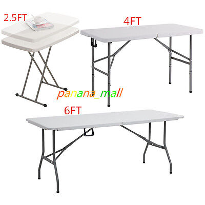 Heavy Duty Folding Portable Trestle Table Picnic Camping Bbq Party Garden 6Ft
