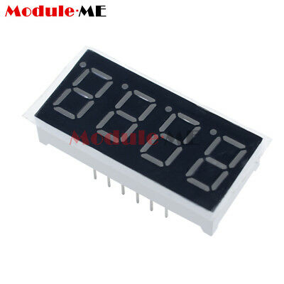 "10PCS 0.36"" 7 Segment 4 Digit Common Cathode 0.36Inch RED LED Digital Display UK"