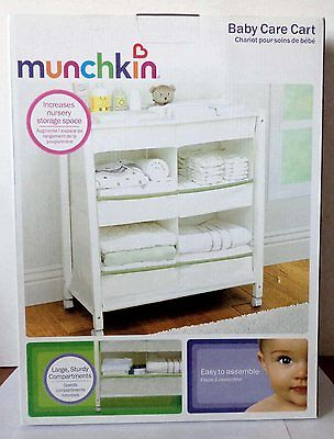NEW - Baby Care Rolling Organizer Cart by Munchkin - Nursery Storage Furniture