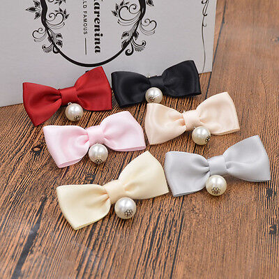 1 Pc Pearl Bow Shoes Clip Shoe Charms Removable Jibbitz for Sandal High Heels