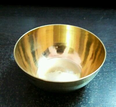 Golden Brass Solid Metal Handmade Small Bowl High polished Old Style Collectible