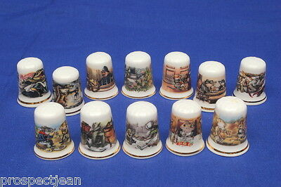 Wind In The Willows No.1 Set of 12 China Thimbles B/170
