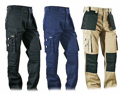 Cargo Heavy Duty Work Wear Trouser Holster & Knee pad Pockets 29, 31, 33 Legs
