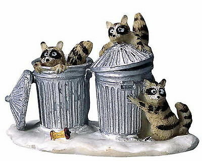 New Lemax Figurines Polyresin 42878 Trash Bandits  New 2016