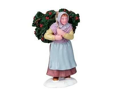 New Lemax Figurines 02802 Holly Gatherer  Polyresin 2016