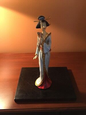 """Collectible Resin Statue Tabletop Accent Decor Traditional Japanese Geisha 12 """""""