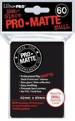 Deck Protector - Small - 60 Sleeves - Pro Matte Black