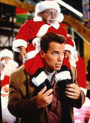 ARNOLD SCHWARZENEGGER & VERN TROYER in ''Jingle All the Way'' Orig. 35mm Slide