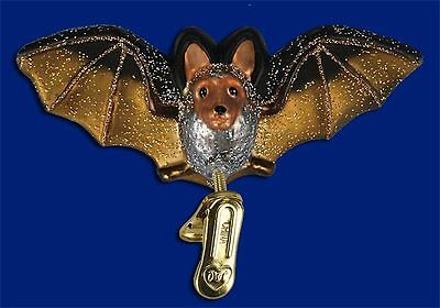 """""""Clip-on Bat"""" (12308) Old World Christmas Glass Ornament"""