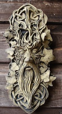 Celtic Green Man Greenman Decorative Stone Wall Plaque