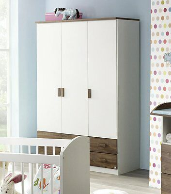 kleiderschrank wei blaue filz babyzimmer babym bel schrank baby kinderzimmer eur 269 10. Black Bedroom Furniture Sets. Home Design Ideas