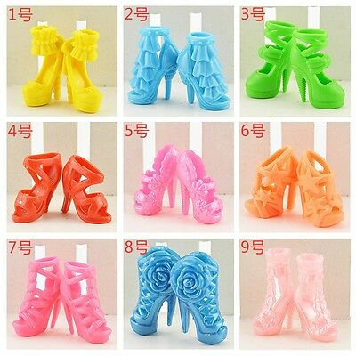 20Pcs Kids Toy Mixed High Heel Shoes For 29cm Barbie Doll Clothes Accessories