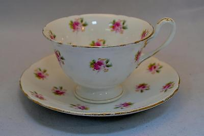 Antique Foley Early Shelley  Cup & Saucer Sprigs of Roses Gainsborough Shape
